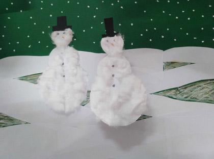 Junge Künstler - Schneemänner