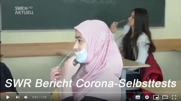 Video SWR-Bericht Corona-Selbsttests