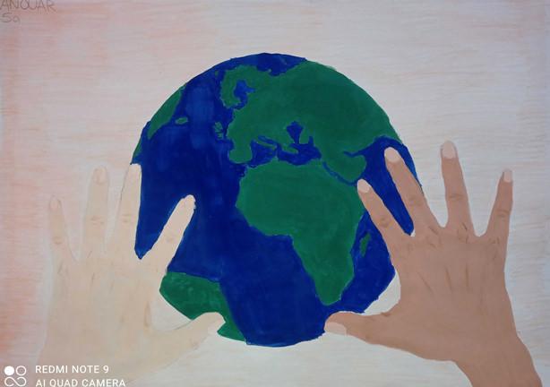 Earth Day 2021 - Nur gemeinsam können wir unseren blauen Planeten retten! von Anouar 5a